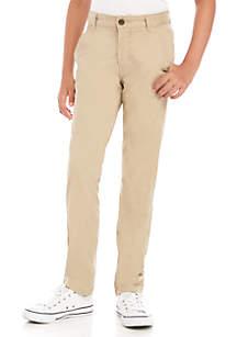 Crown & Ivy™ Boys 8-20 Flat Front Hetch Khaki Pants