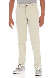 Crown & Ivy™ Boys 8-20 Husky Flat Front Stone Soho Pants