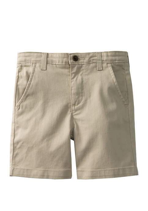 Crown & Ivy™ Boys 4-7 Twill Stone Shorts