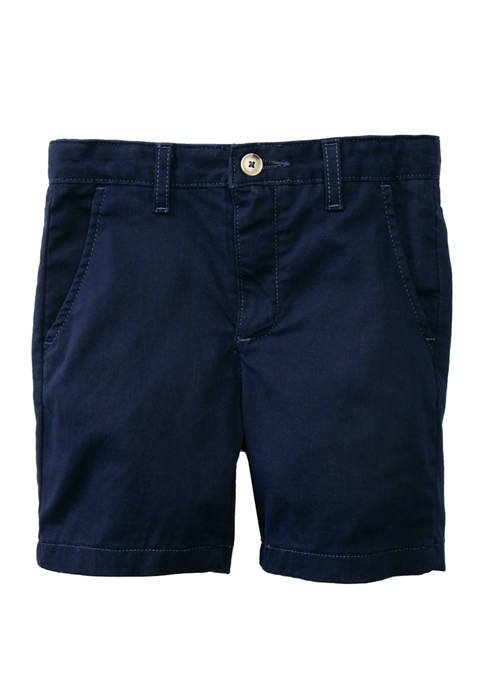 Crown & Ivy™ Boys 4-7 Twill Navy Shorts