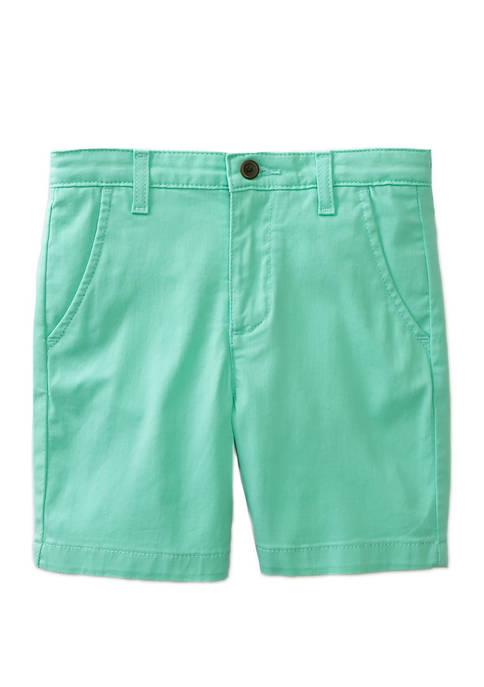 Crown & Ivy™ Boys 4-7 Aqua Twill Shorts