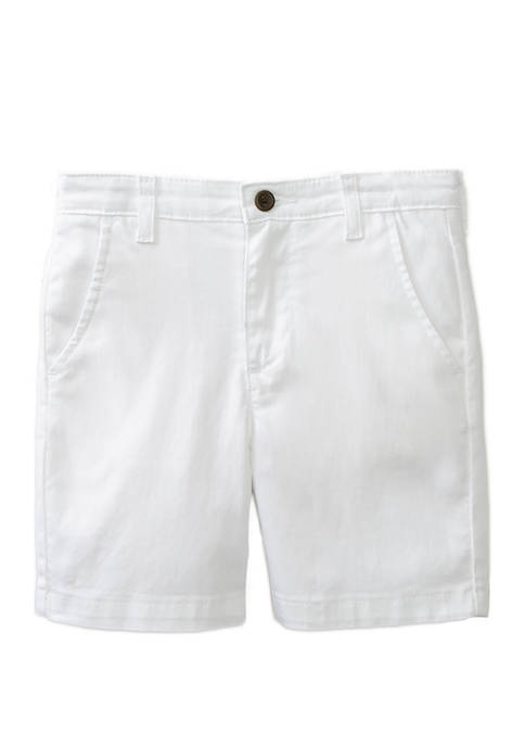Crown & Ivy™ Boys 4-7 Twill White Shorts