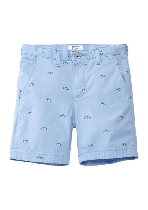 Crown & Ivy™ Boys 4-7 Printed Twill Shorts