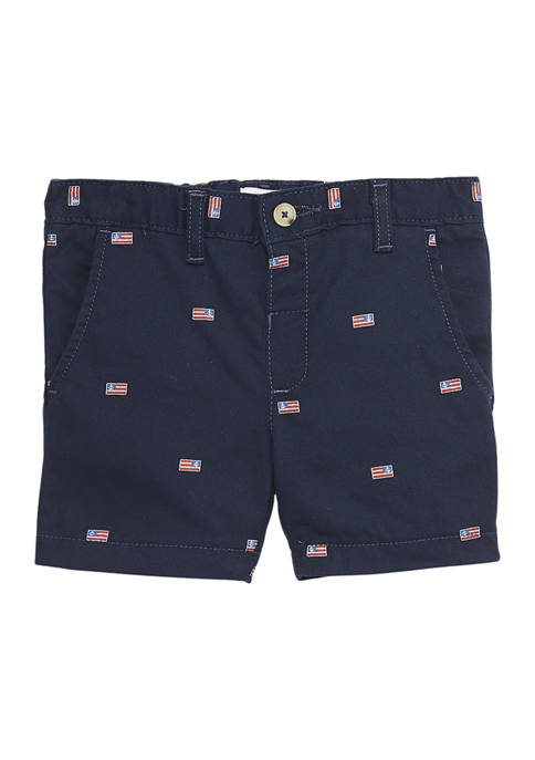 Crown & Ivy™ Boys 4-7 Flat Front Twill