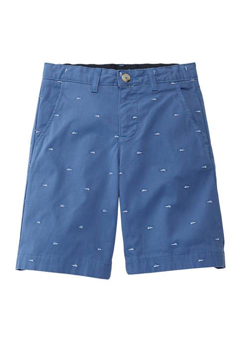 Crown & Ivy™ Boys 8-20 7-Inch Twill Shorts