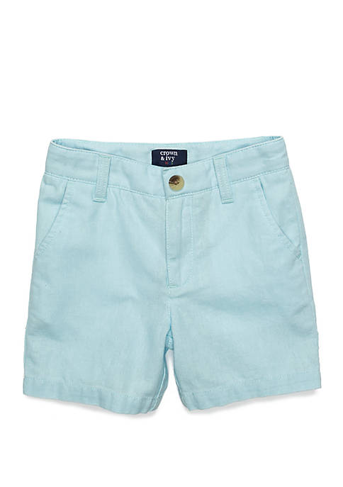 Crown & Ivy™ Boys 4-8 Linen Flat Front