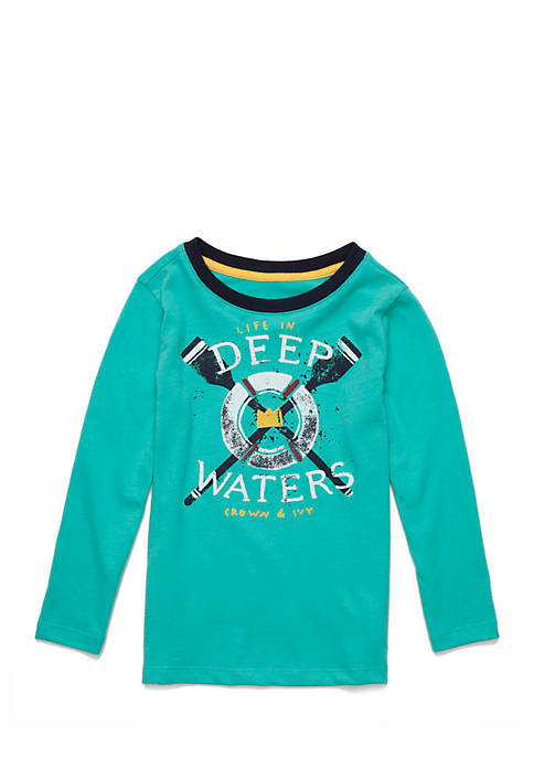 Crown & Ivy™ Toddler Boys Long Sleeve Crew