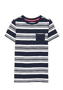 Crown & Ivy™ Toddler Boys Short Sleeve Pocket Tee