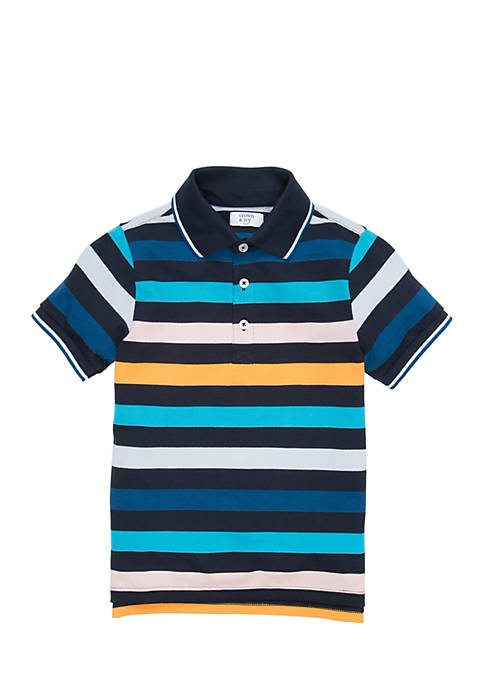 Crown & Ivy™ Toddler Boys Polo Flat Knit