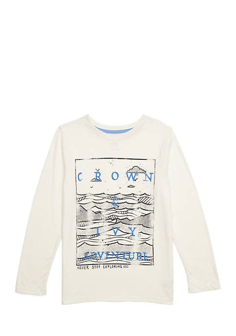 Crown & Ivy™ Boys 4-8 Long Sleeve Graphic