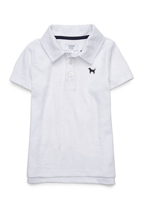 Crown & Ivy™ Boys 4-8 Short Sleeve Polo