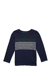 Boys 4-8 Long Sleeve Crew Tee