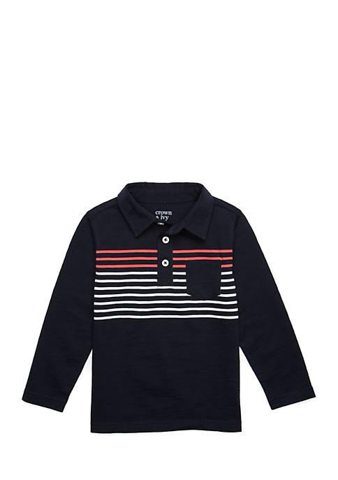 Crown & Ivy™ Boys 4-8 Long Sleeve Polo