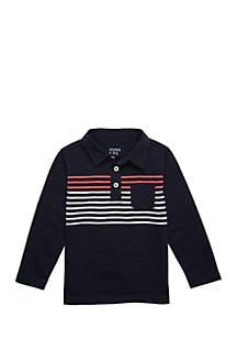 Boys 4-8 Long Sleeve Polo with Pocket