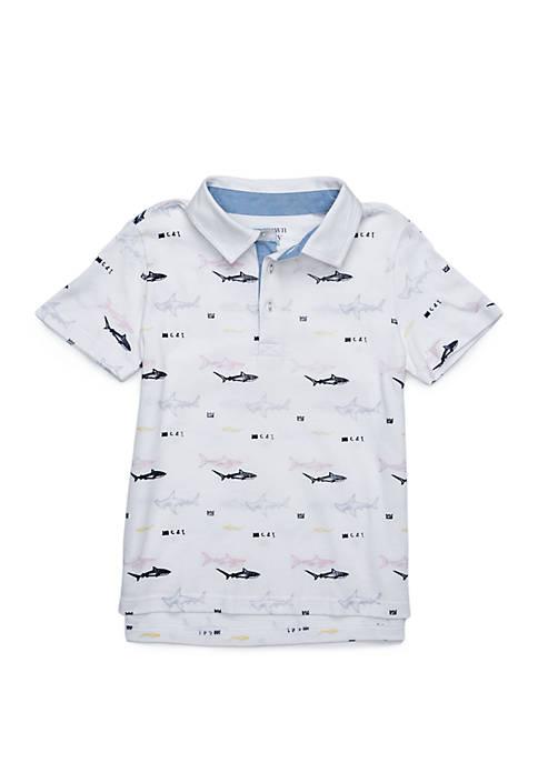 Boys 4-8 Short Sleeve Polo Shirt