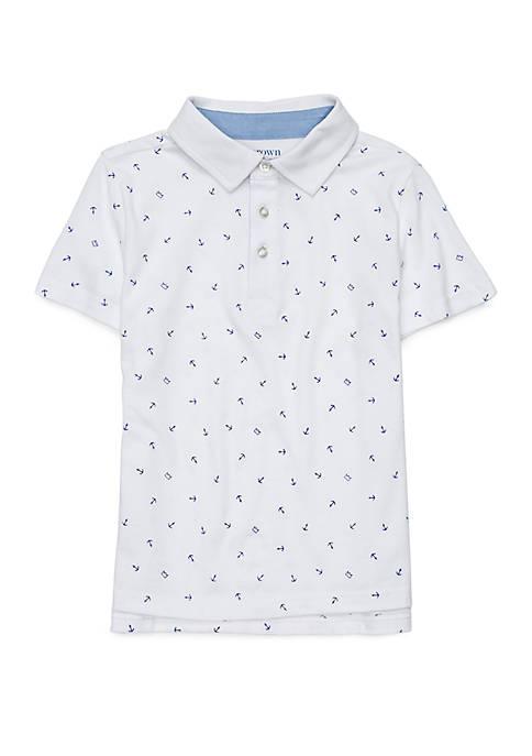 Crown & Ivy™ Boys 4-8 Short Sleeve Polo
