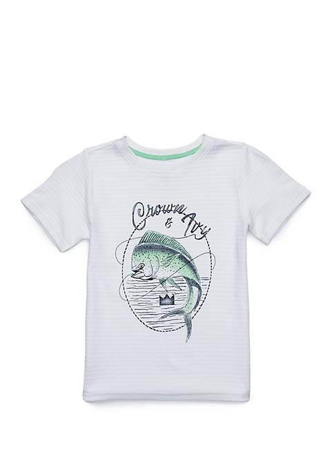 Crown & Ivy™ Boys 4-8 Short Sleeve Fashion