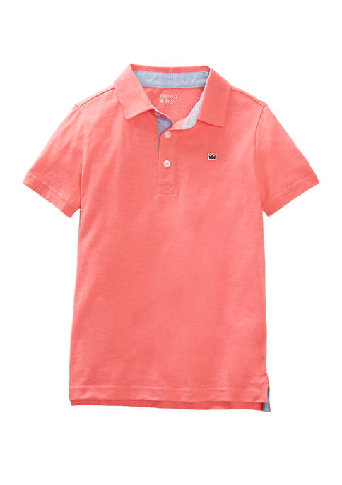 Crown & Ivy™ Boys 4-7 Short Sleeve Solid