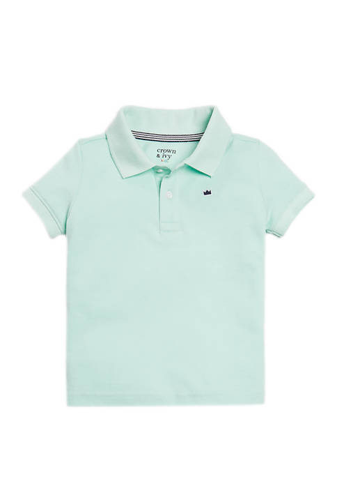Crown & Ivy™ Boys 4-7 Short Sleeve Pique