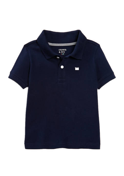Crown & Ivy™ Boys 4-7 Short Sleeve Pique