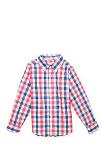 Boys 4-8 Long Sleeve Woven Top