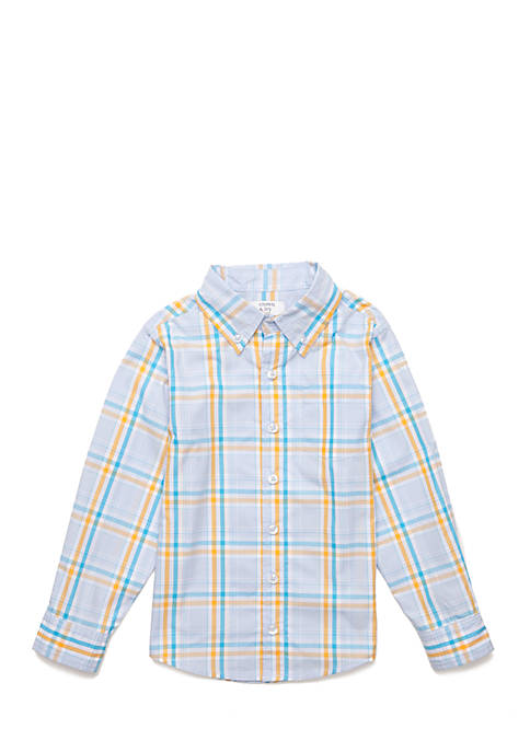 Crown & Ivy™ Boys 4-8 Long Sleeve Woven