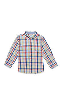 Boys 4-8 Pocket Long Sleeve Woven Shirt