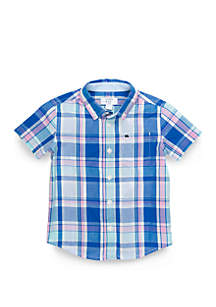 Crown & Ivy™ Boys 4-8 Oxford Short Sleeve Shirt