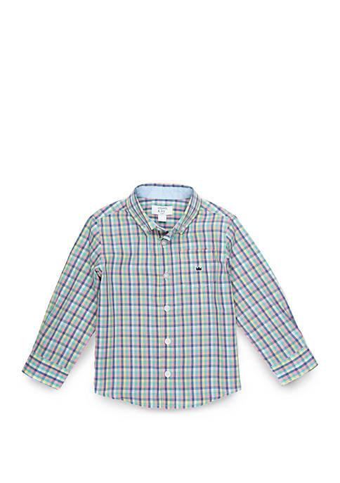 Crown & Ivy™ Boys 4-8 Long Sleeve Pocket