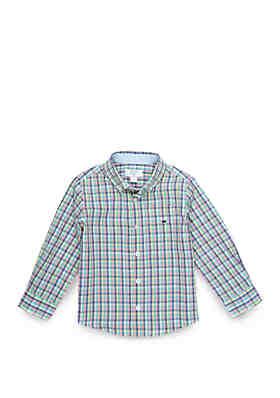 6bc02e645 Crown   Ivy™ Boys 4-8 Long Sleeve Pocket Woven Shirt ...