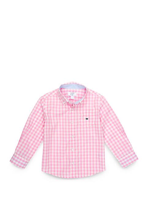 Boys 4-8 Long Sleeve Pocket Woven Shirt