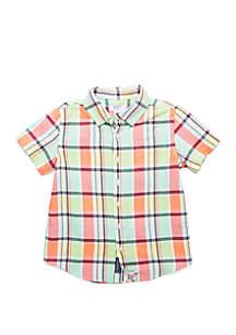 Crown & Ivy™ Boys 4-8 Short Sleeve Pocket Oxford Shirt