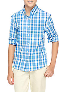 Boys 8-20 Ls Easy Care Woven Button Down