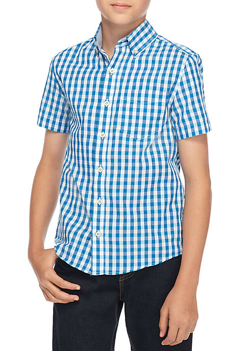 Crown & Ivy™ Boys 8-20 Short Sleeve Woven