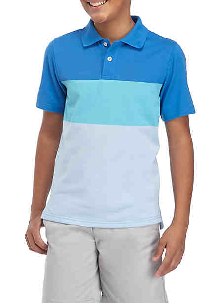 Crown & Ivy™ Short Sleeve Colorblock Polo Shirt Boys ...