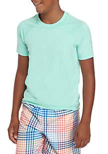 Solid Rashguard Short Sleeve Shirt Boys 8-20