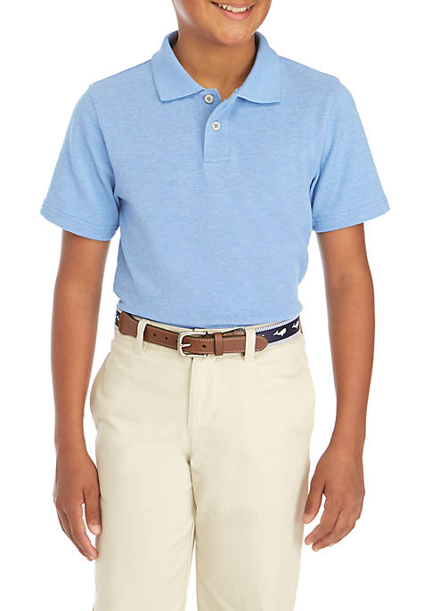 Crown & Ivy™ Boys 8-20 Heather Pique Polo