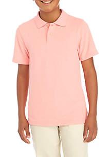 Boys 8-20 Heather Pique Polo Shirt