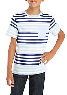 Boys 8-20 Short Sleeve Stripe Crew Shirt