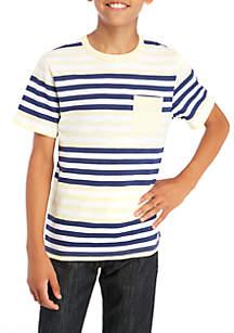 Boys 8-20 Short Sleeve Stripe Crew Shirt