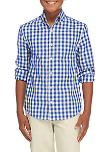Boys 8-20 Long Sleeve Gingham Woven Shirt