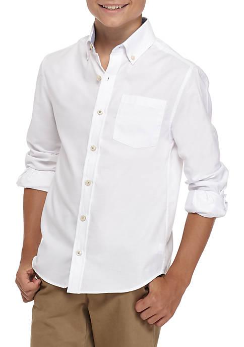 Boys 8-20 Long Sleeve Oxford Woven Shirt