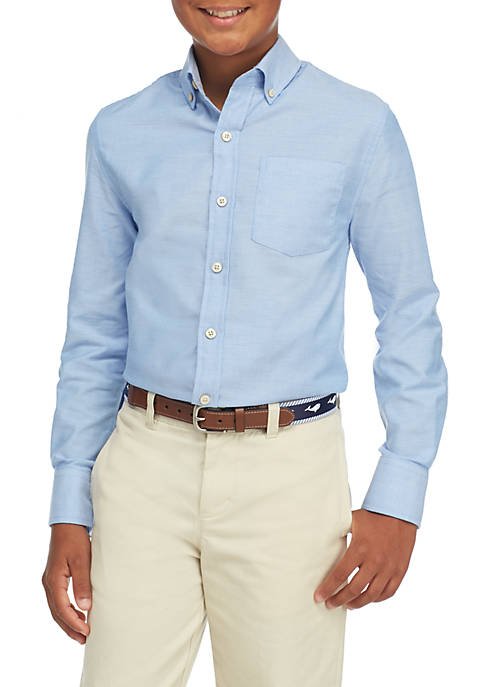 Crown & Ivy™ Boys 8-20 Long Sleeve Oxford