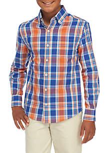 Boys 8-20 Long Sleeve Easy Care Woven Shirt