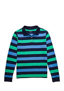Boys 8-20 Long Sleeve Stripe Polo