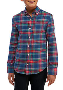 Boys 8-20 Long Sleeve Flannel Shirt