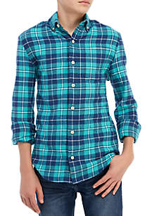 Crown & Ivy™ Boys 8-20 Long Sleeve Flannel Shirt