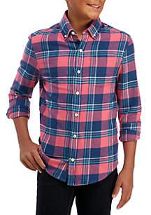 Boys 8-20 Long Sleeve Flannel Shirt