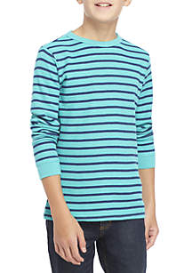 Boys 8-20 Long Sleeve Striped Thermal Shirt