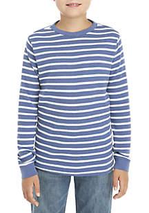 Boys 8-20 Long Sleeve Striped Thermal Shirt